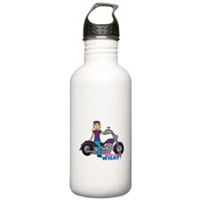 Biker Girl Light/Blonde Water Bottle