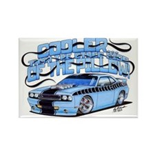 2010 Dodge Challenger with Text Rectangle Magnet
