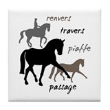 Horses dressage Tile Coasters