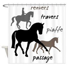 Dressage Movements Trio Shower Curtain