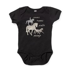 Dressage Movements Trio Baby Bodysuit