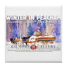 winter in peacham Tile Coaster