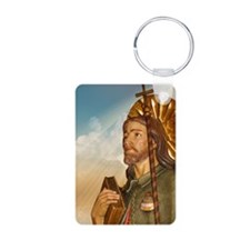St. Rocco Profile Religious Keychain