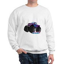Monster Truck Driver Girl - Dark Sweatshirt