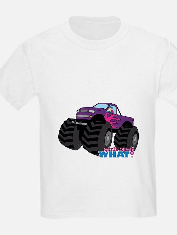 Monster Truck Driver Girl - Light/Blonde T-Shirt