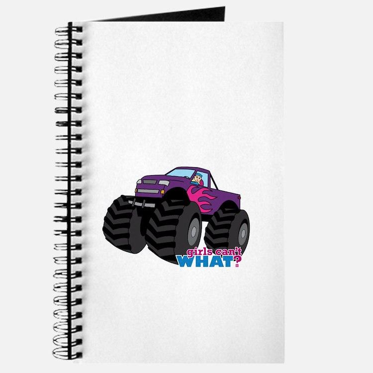 Monster Truck Driver Girl - Light/Blonde Journal