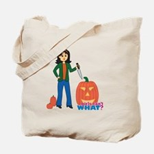 Pumpkin Carver Medium Tote Bag