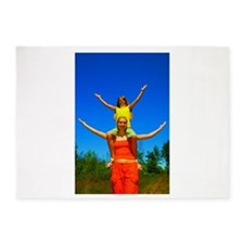 Girls with arms open 5'x7'Area Rug