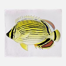 Oval Butterflyfish fish Throw Blanket