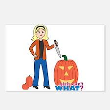 Pumpkin Carver Light/Blonde Postcards (Package of