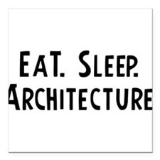 "Cute Architects Square Car Magnet 3"" x 3"""