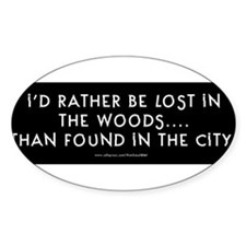 lostinwoodsbumpersticker.jpg Decal