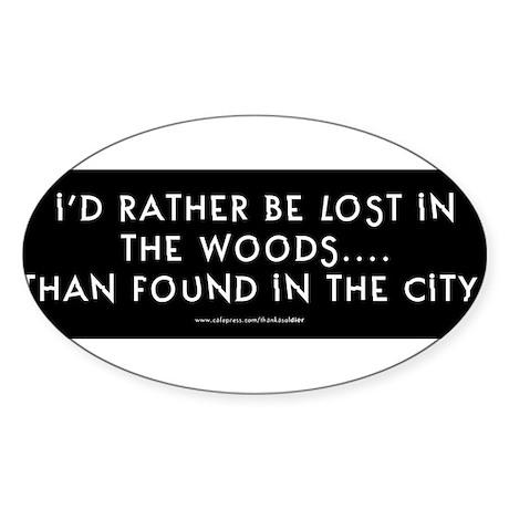 lostinwoodsbumpersticker.jpg Sticker