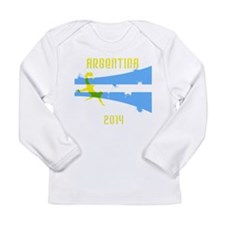 Argentina World Cup 2014 Long Sleeve Infant T-Shir