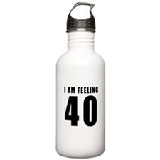 I am feeling 40 Water Bottle