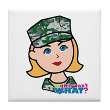 Marine Light/Blonde Head Tile Coaster