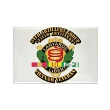 Army - 54th Artillery Group w Svc Ribbon Rectangle
