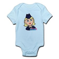 Air Force Head Blonde Infant Bodysuit