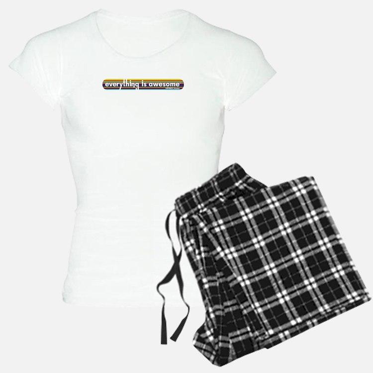 Everything is Awesome - Stripe Pajamas