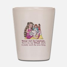 Dolly Dollars Shot Glass