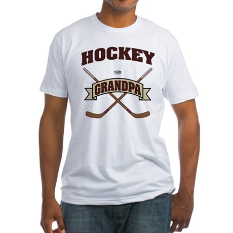 Hockey Grandpa Fitted T-Shirt