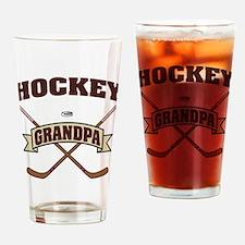 Hockey Grandpa Drinking Glass
