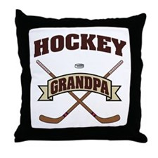 Hockey Grandpa Throw Pillow