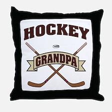 Hockey Grandpa Throw Pillow