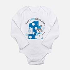 Snowman 1st Birthday Long Sleeve Infant Bodysuit