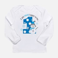 Snowman 1st Birthday Long Sleeve Infant T-Shirt