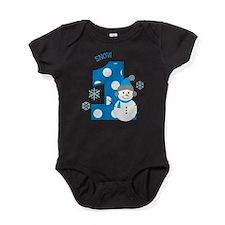 Snowman 1st Birthday Baby Bodysuit