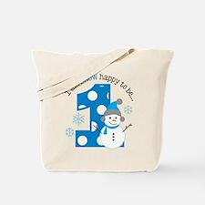 Snowman 1st Birthday Tote Bag