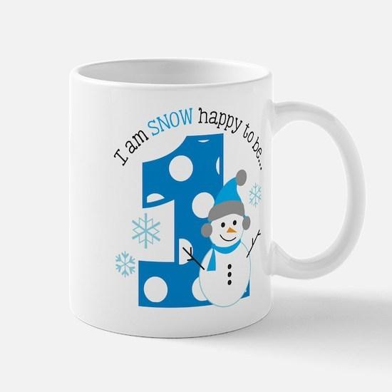 Snowman 1st Birthday Mug