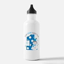 Snowman 1st Birthday Water Bottle