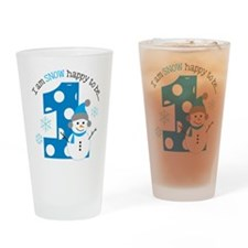 Snowman 1st Birthday Drinking Glass