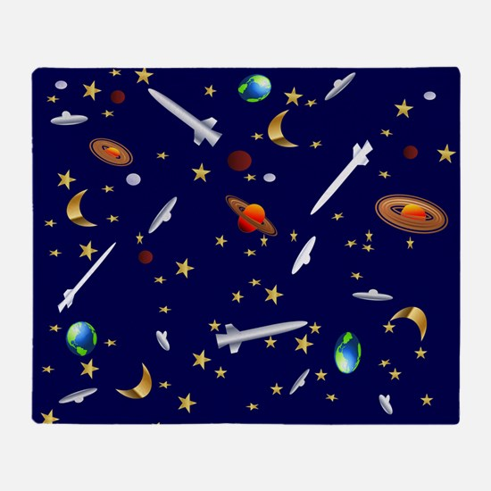 Space Flight Pattern Throw Blanket