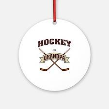 Hockey Grandpa Ornament (Round)