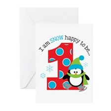 Penguin 1st Birthday Greeting Cards (Pk of 20)