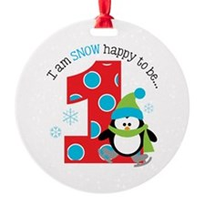 Penguin 1st Birthday Ornament
