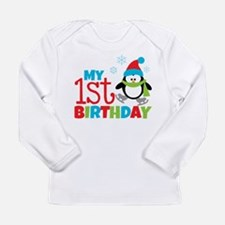 Penguin 1St Birthday Long Sleeve Infant T-Shirt