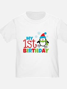 Penguin 1st Birthday T