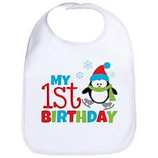 Penguin 1st Birthday Bib