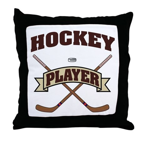 Hockey Player Throw Pillow