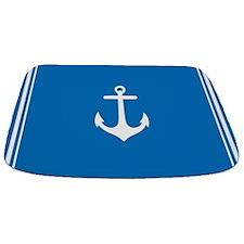 Nautical Blue Anchor Bathmat