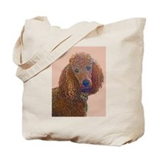 RED POODLE LOVE Tote Bag