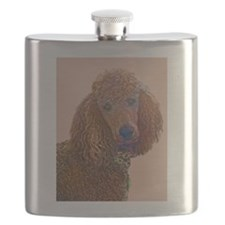 RED POODLE LOVE Flask