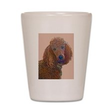 RED POODLE LOVE Shot Glass