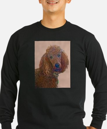 RED POODLE LOVE Long Sleeve T-Shirt