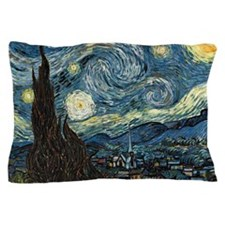 Starry Night by Vincent van Gogh. Pillow Case