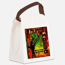 Personalize Girl on Fire Canvas Lunch Bag